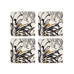 Denby Monsoon Chrysanthemum Cream 4 X Coasters
