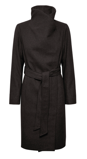 Soaked in Luxury Coat Callaha Canasta in black