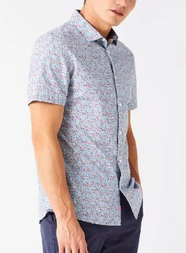 WHITE STUFF MENS CARLOW SHORT SLEEVE FLORAL SHIRT - PINK