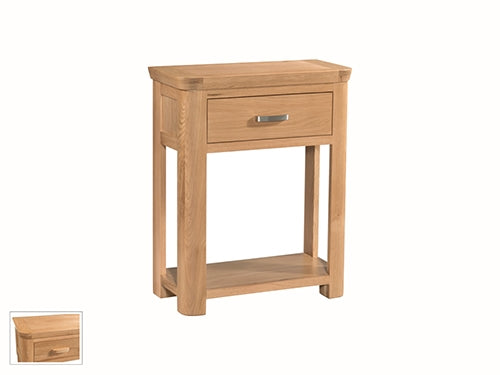 Curved Oak Small Console Table