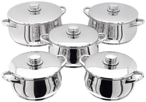 Stellar 1000 5 Piece Casserole Set, S1F3 - Induction Compatible