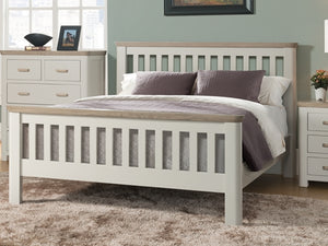 Smokey Oak Painted Painted 3ft Bed