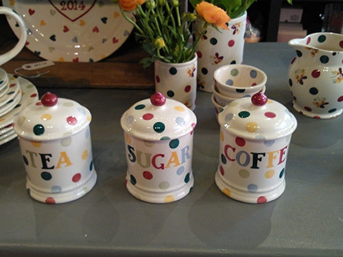 Emma Bridgewater Tea, Coffee and Sugar Storage Jars