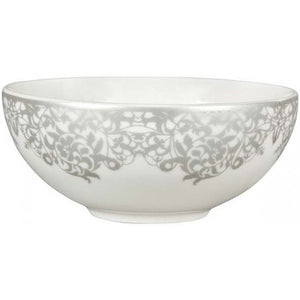 Denby Monsoon Filigree Silver Soup Cereal Bowl