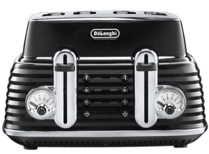 De'Longhi Scultra 4 Slot Toaster in Black Brand New CTZ4003