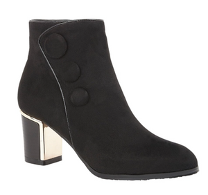 LOTUS WOMENS DONATELLA HEELED ANKLE BOOT - BLACK