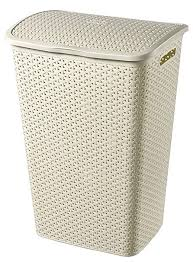 Curver Rattan Laundry Hamper Antique White