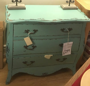 3 Drawer Chest - Turquoise