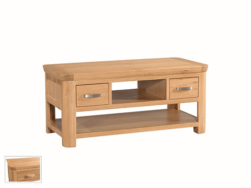 Curved Oak Standard Coffee Table