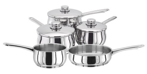 Stellar 1000 5 Piece Saucepan Set, S1C1 - Induction Compatible