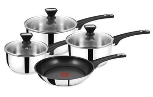 Tefal Jamie Oliver 4 Piece Non-stick Saucepan Set, Induction, B125SA44