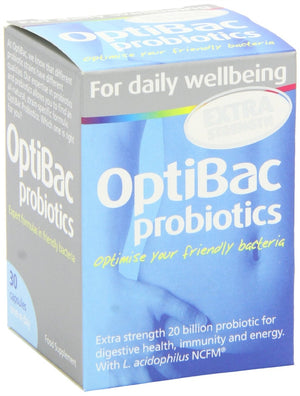 Optibac Probiotics for Daily Wellbeing Extra Strength 30 Vegetarian Capsules