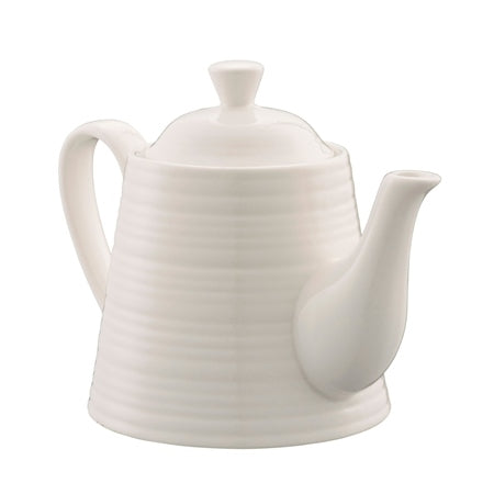 BELLEEK LIVING RIPPLE TEAPOT