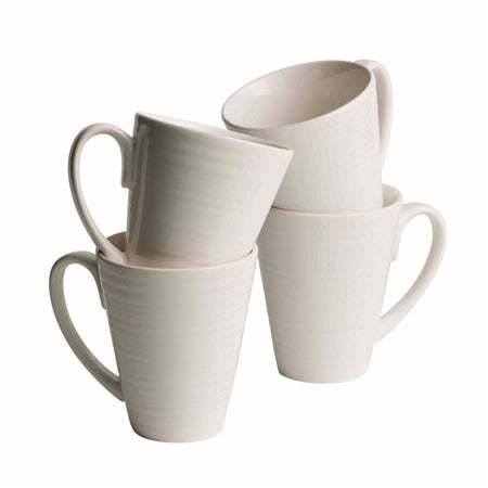 Belleek Ripple Set of 4 Mugs