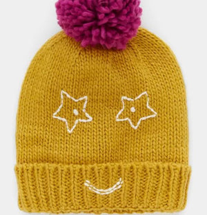 WHITE STUFF KIDS FUNNY FACE HAT - Mid Chart