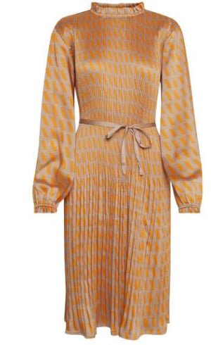 DRANELLA WOMENS FAIR 3 DRESS- BEIGE/ORANGE