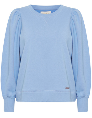 Part Two ladies sweatshirt in vista blue,