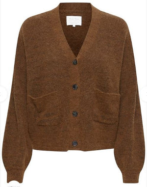PART TWO ERLINE KNITTED CARDIGAN - CHOCOLATE GLAZE