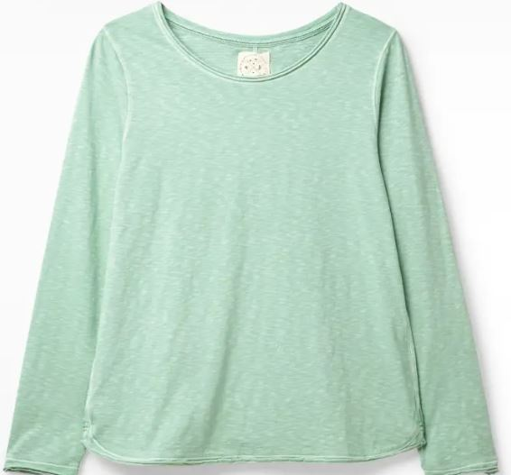 WHITE STUFF WOMENS CARLY FAIRTRADE JERSEY TEE- DUSTED GREEN PLAIN
