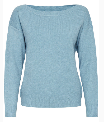Ichi ladies pullover Ihalpa in delphinium blue