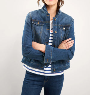 White Stuff Women's Dayton Denim Jacket- Mid Denim