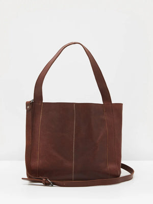White Stuff Hannah Eco Leather Tote Bag- Dark Brown