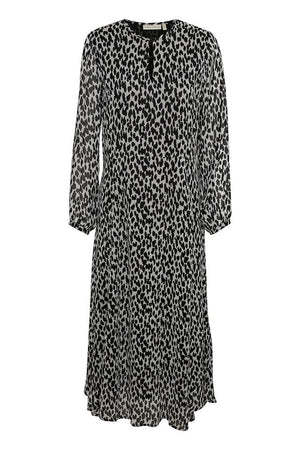 INWEAR WOMENS LYLA DRESS - BLACK/WHITE UNRULY DOTS