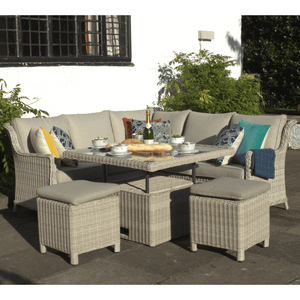 Seychelles Corner Sofa and Stool Dining Set