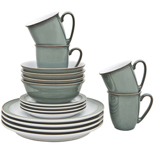 Denby Regency Green 16 Piece Dinner Set
