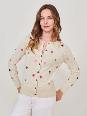White Stuff Women's Lola Crew Neck Cardi - Nat MLT