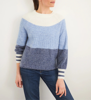 White Stuff Womens Cecile Jumper- Blue Mlt