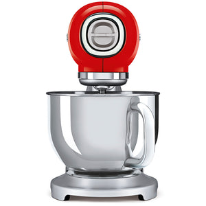 Smeg, Red & Stainless Steel Mixer, 800 W, 4.8 liters, SMF01RDEU