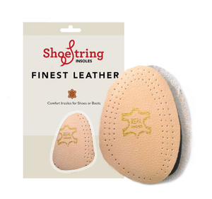 Shoestring insole leather half