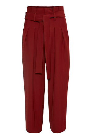 INWEAR CARA HIGH-WAISTED CULOTTE TROUSER- RUST