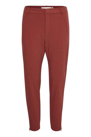 INWEAR NICO NO RIB WOMEN'S TROUSER-RUST