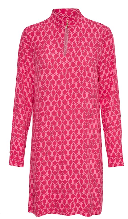 INWEAR WOMENS LOGAN DRESS- PINK HEXAGON