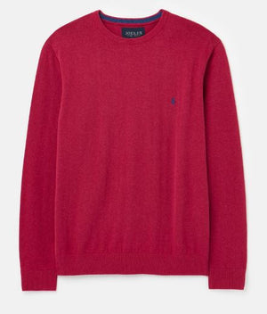 JOULES MENS JARVIS CREW NECK JUMPER - PINK MARL