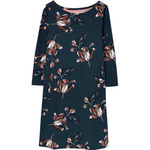 JOULES ALLIE SWING JERSEY DRESS WITH POCKETS- GREEN FLORAL