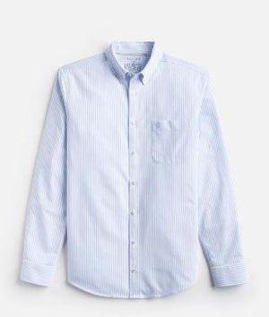 JOULES MEN'S LAUNDERED OXFORD CLASSIC FIT SHIRT- BLUE STRIPE