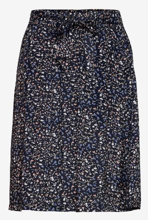 KAFFE WOMENS KAALINE SKIRT - MIDNIGHT MARINE