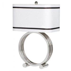 chrome base ring lamp rectangle shape