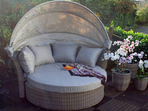 Royalcraft Landford Day Bed Brown Including Weather-Shield Cushions
