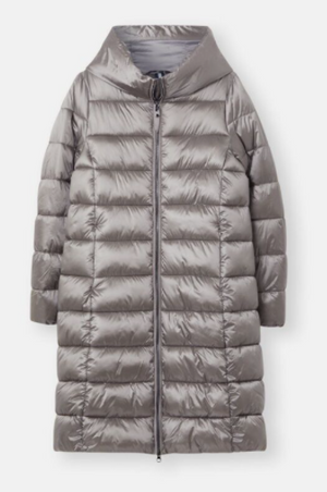 JOULES WOMENS LANGHOLM SHOWERPROOF PADDED COAT - SLATE GREY