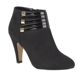 LOTUS LADIES NELL HEELED SHOE BOOT - BLACK