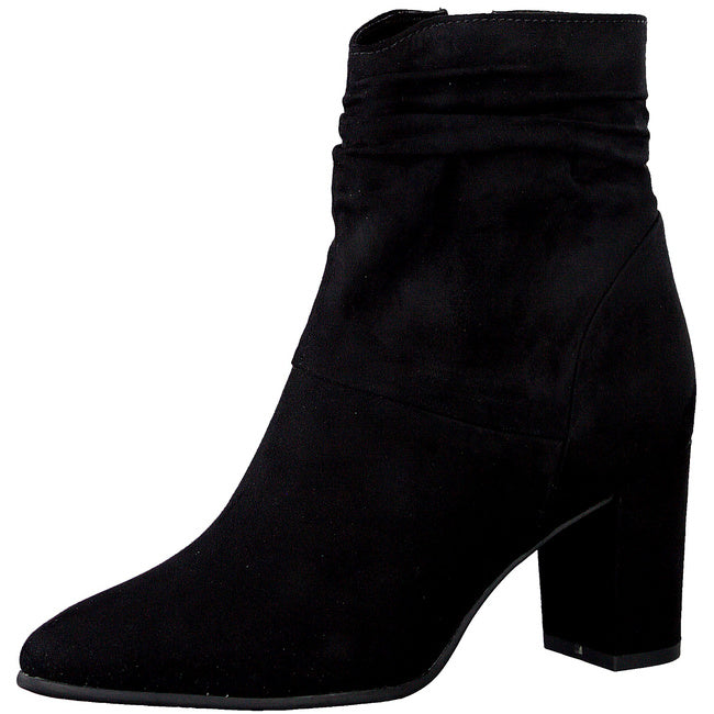 MARCO TOZZI WOMEN'S BLACK HEELED ANKLE BOOT- BLACK