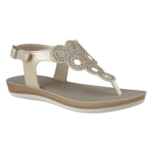 Lotus Women's Milan Toe-Post Sandals - Gold
