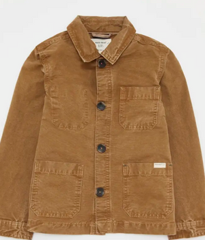 WHITE STUFF BOYS MINI ME CARPENTER JACKET - MID BROWN