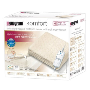 Monogram Allergy Free Single Fitted Electric Underblanket