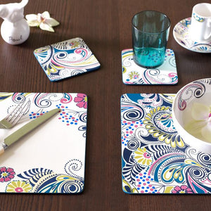 Denby Monsoon Cosmic Cream Coasters Pack of 4