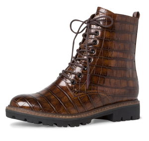 Marco tozzi ladies boots 125233-35 chestnut croco